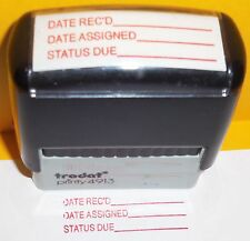 TRODAT DATE REC'D DATE ASSIGNED STATUS DUE SELF INKING OFFICE STAMP 4913 VGC