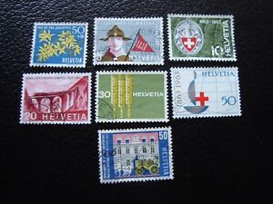 Switzerland-Stamp-Yvert-and-Tellier-N-704-A-710-Obl-A1-Stamp-Switzerland-A