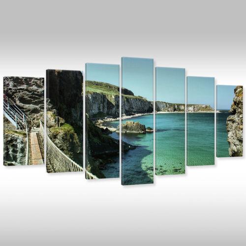 Imagen del lienzo canvas muro imágenes marcos de cuña paisaje Carrick-a-discurso de Irlanda del Norte