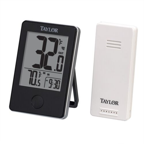 Wireless Digital Indoor Outdoor Thermometer weather Monitor 200 ft Sensor Taylor