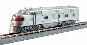 scala-N-Kato-Locomotiva-diesel-EMD-E5A-ARGENTO-SPEED-176-5403-DCC-NEU