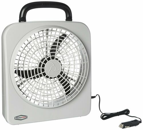 """ROADPRO RP8000 12-VOLT BATTERY OPERATED 10/"""" PORTABLE FAN"""