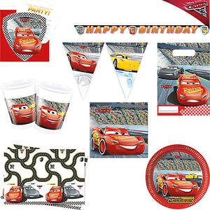 Image Is Loading Boys Cars 3 Disney Pixar Birthday Party Tableware