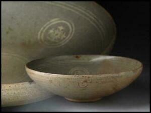 Korean Goryeo Dynasty Inlaid Tea Bowl / W 19[cm]