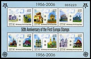 LAOS-SCOTT-1673a-50th-ANNIVERSARY-OF-THE-FIRST-EUROPA-STAMPS-SHEET-MINT-NH