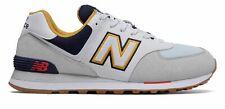 New Balance Hombre Zapatos 574 Gris Con Azul Marino