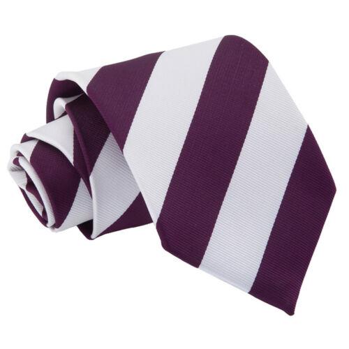 DQT Da Uomo Cravatta Viola Tinta Unita Semplice a Quadretti Con Motivo Floreale Paisley a Pois Tartan