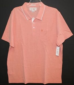 Penguin-by-Munsingwear-Mens-Orange-Heritage-Slim-Fit-Polo-Shirt-NWT-69-Size-2XL