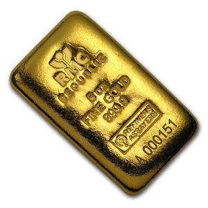 Image Is Loading 5 Oz Gold Bar Republic Metals Corporation Cast