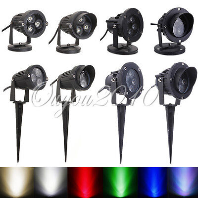 LED Landscape Garden Wall Yard Path Pond Flood Spot Light Outdoor IP65 US SHIP