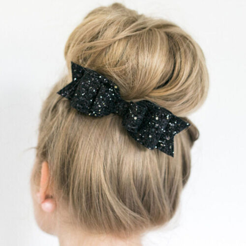 Fashion Women Girls Sequins Big Bowknot Barrette Hairpin Hair Clips Hair Bow bn
