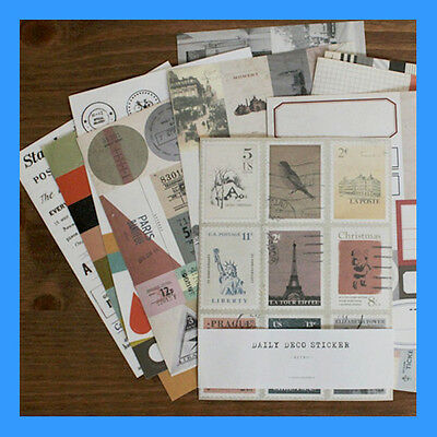 Multi-purpose 12 Sheets Daily Deco Sticker - Retro