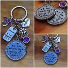 Personalised Birthday Keepsake Gift keyring - mum sister daughter auntie
