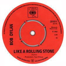 Bob Dylan. Like A Rolling Stone record label sticker