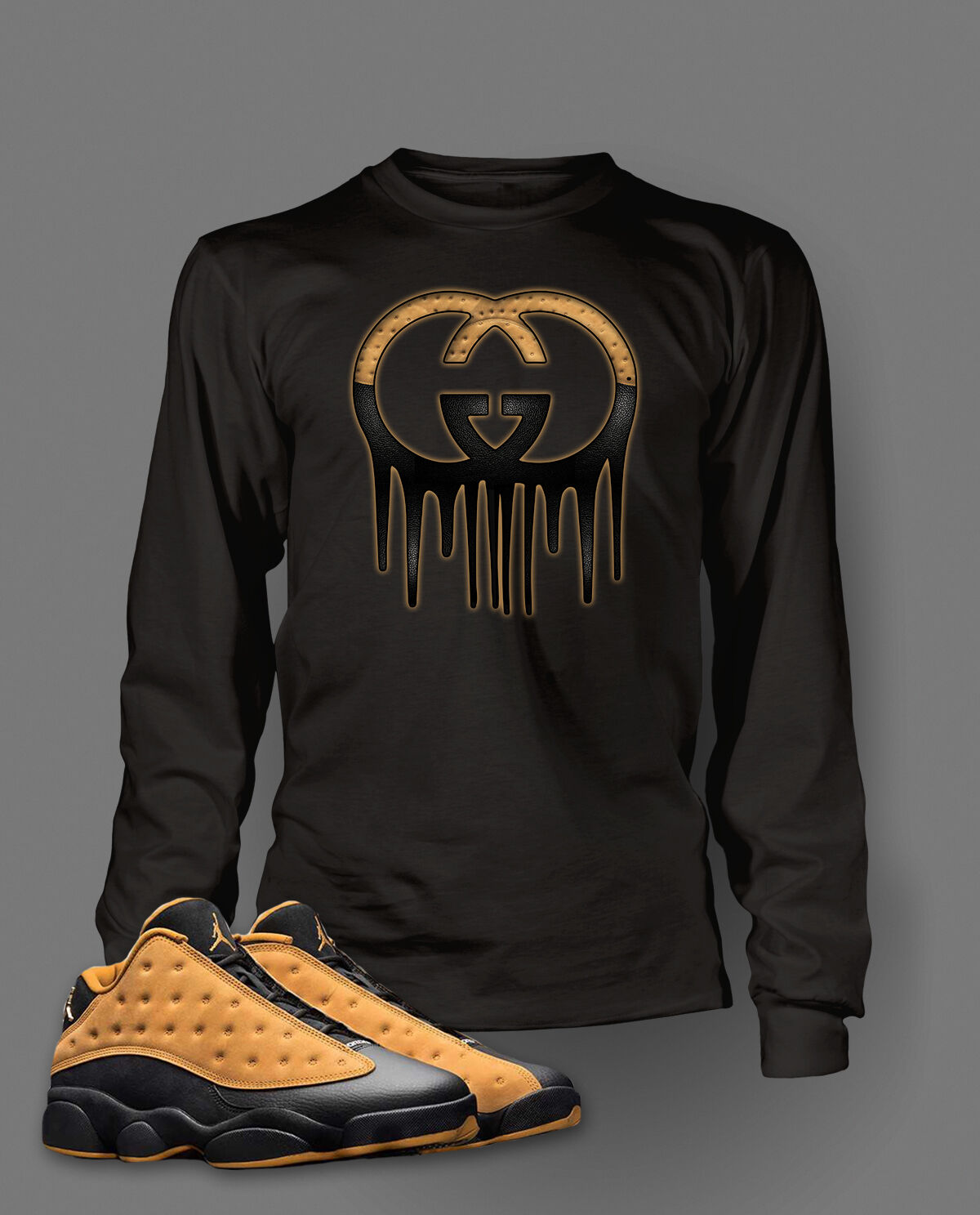 Graphic Tee Shirt to Match AIR JORDAN 13 LOW CHUTNEY shoes Big and Tall or Small