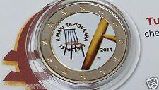 2 euro 2014 Finlandia colorato Suomi Finland Finlande 100 anni Ilmari TAPIOVAARA