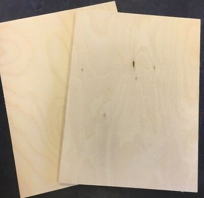 Pyrography 6mm 5 x A4 Finnish Birch Plywood Sheets Laser Safe Crafts Models