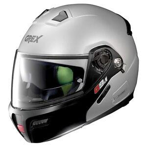 Grex-G9-1-Evolve-Couple-Flat-Silver-Flip-Front-Modular-Motorcycle-Helmet-Nolan