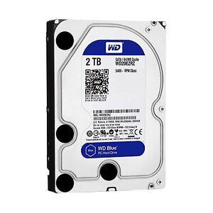 HARD DISK 3,5 WESTERN DIGITAL CAVIAR BLU 2TB SATA3 64MB 2000GB WD20EZRZ 5400rpm