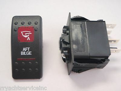 BILGE PUMP SWITCH AFT V1D1 G66B ONOFF  2 RED LENS CARLING CONTURA V1D1G66B EBAY