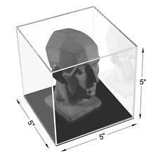 Acrylic Display Case With Black Base Organizer Stand Riser Dustproof Showcase
