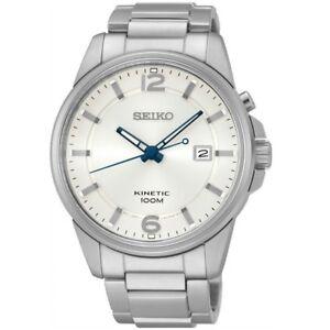962b58786 Seiko Kinetic SKA663 P1 Silver Dial Men's Classic Automatic Analog ...