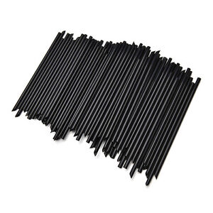 100Pcs Black Plastic Cocktail Straws For Celebration Drink Party Supplies FN S1