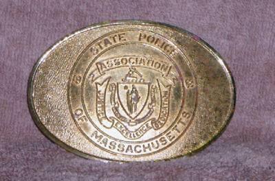 1983 Massachusetts State Police Association Solid Brass Belt Buckle,1100 Made