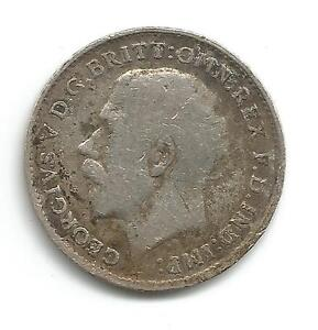 George V 039Silver039 Three Pence Coin  1919 - Merriott, Somerset, United Kingdom - George V 039Silver039 Three Pence Coin  1919 - Merriott, Somerset, United Kingdom