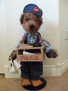 Details About Retired Franklin Mint Sammy Coca Cola Heirloom Collector Teddy Bear With Stand