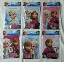 12 Frozen Elsa & Anna Coloring Books & 24 Crayons 6 Different design Party Favor
