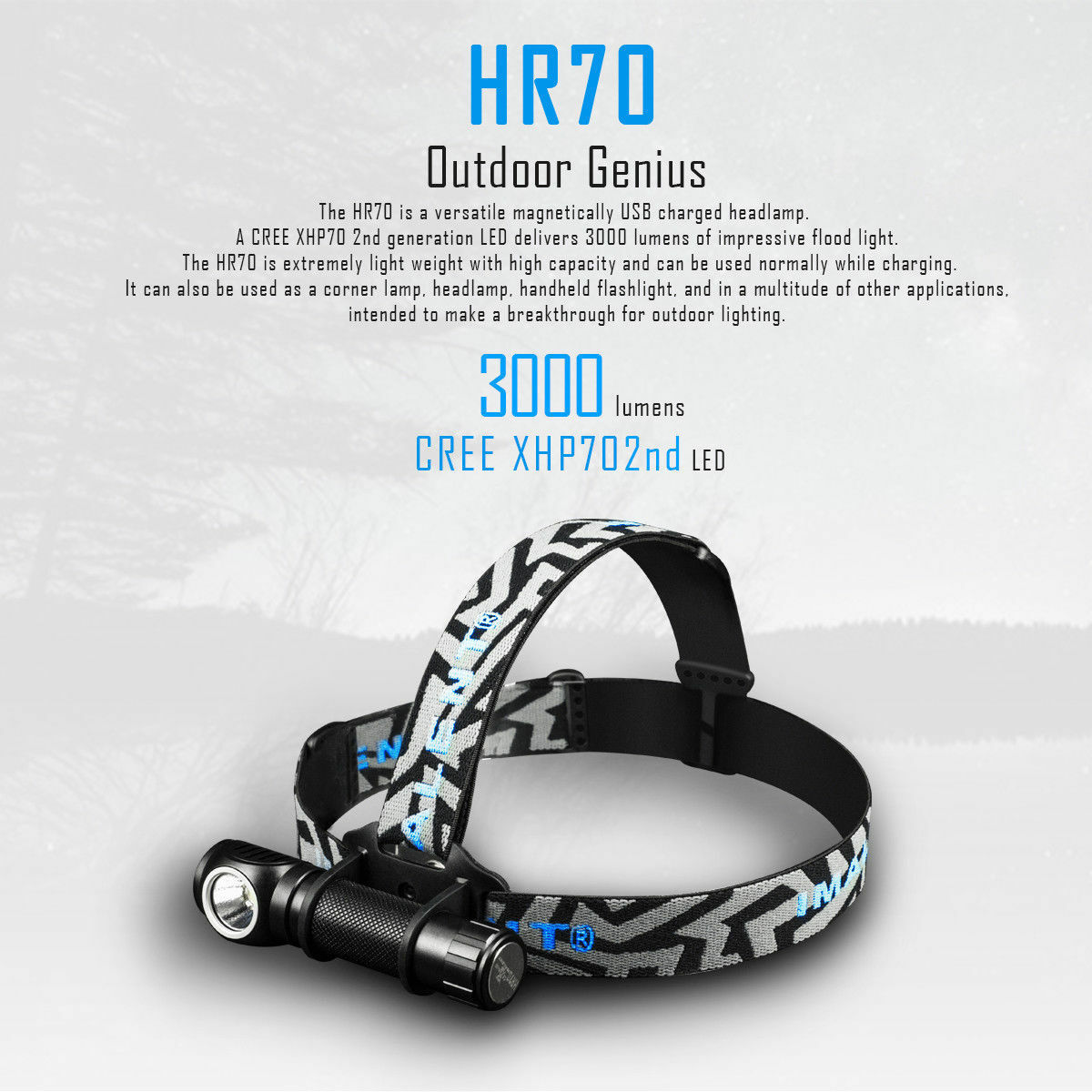 Imalent HR70 multi-function USB magnetic charging  headlamp and flashlight.  here has the latest