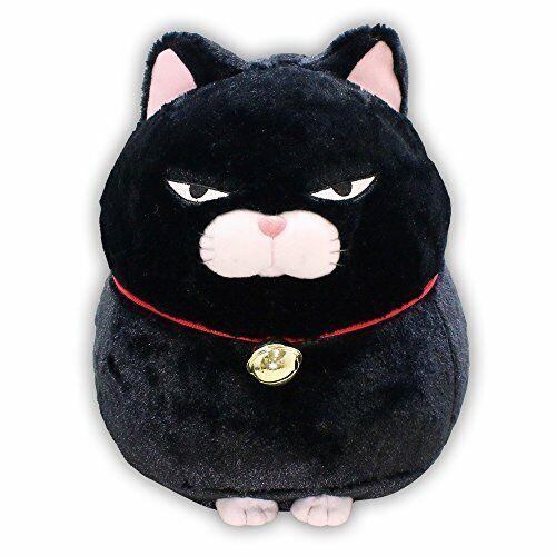 BIG Plush Toy HIGE MANJYU KUROMAME 30 cm Cat Japan AMUSE KAWAII Stuffed F S