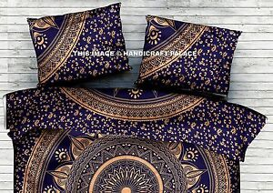 Indian-Blue-Gold-Cushion-Cover-Ombre-Mandala-Sham-Case-Cotton-Pillow-Cover-28-034