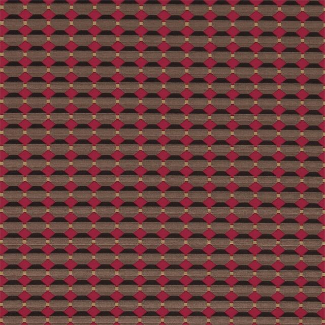 Zoffany Curtain/Upholstery Fabric 'ABACUS' 2 METRES Charcoal/Claret Cut Velvet