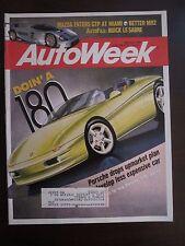 Autoweek Magazine March 1992 Porsche Drops Upmarket Mazda Enters GTP MR2 (O)