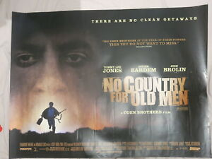 No Country For Old Men 2007 Original Quad Film Poster Coen Brothers Ebay