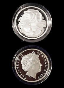 1966-99-9-Proof-Silver-20c-from-1998-Masterpieces-Set-13-36g-First-Decimal-Coin