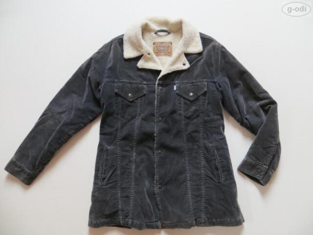 Levi's® Jacke, Kurzmantel mit Fell Gr. L, Grau ! ribbless Cord, warm gefüttert !