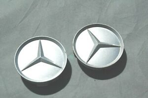 Frenchic Mercedes Silver Set of 2 OEM Benz Wheel Center Caps Hubcaps 75mm//3inch