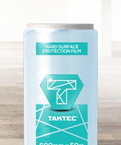 WOOD SELF ADHESIVE HARD FLOOR VINYL PROTECTION FILM 600MM X 100M TILE