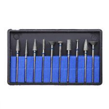 10pcs Dental Sintered Diamond Point Polisher Hp Shank Rotary Bur Lab 235mm Us
