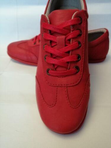 Baskets Pour Femme cuir Rouge semelle très souple  T 37 Neuves Pas chères