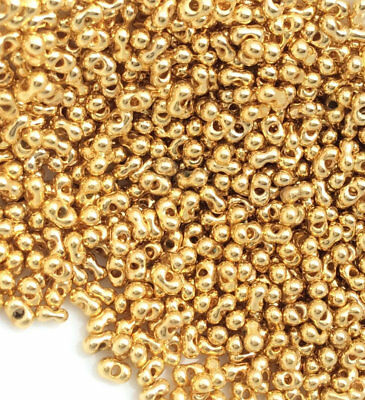 8//0 Japanese seed beads Miyuki Permanent 24KT Gold Nontarnish finished 15GRAMS