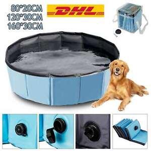 Profi Hundepool Doggy Pool Faltbar Swimmingpool Ø80//120//160cm krallenbewährt DHL