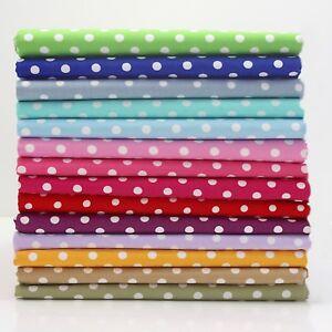 6-7mm-Gioiello-a-Punto-100-Cotton-a-Pois-Pois-Tessuto-Multicolore-Patchwork