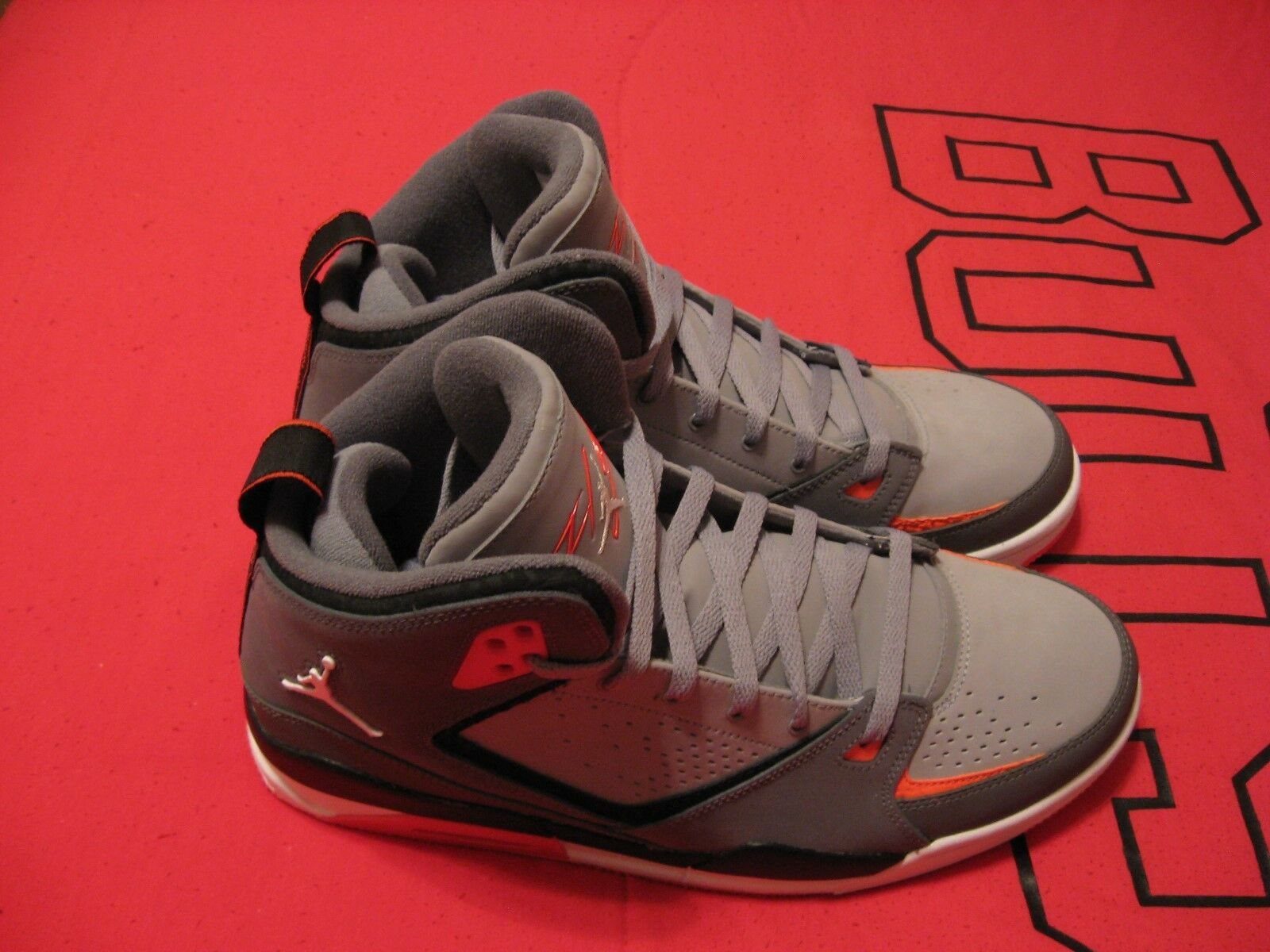 Brand New Nike Air Jordan SC2 Grey, Black, Orange, And White Shoes