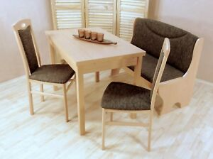 Essgruppe 4 Tlg Tisch Ausziehbar Stühle Truhenbank Bank Farbe