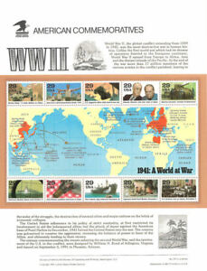 371-29c-1941-World-War-II-MS10-2559-USPS-Commemorative-Stamp-Panel