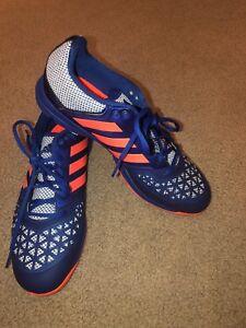 on sale 84177 5c7fa Image is loading Adidas-Zone-Dox-Hockey-Shoe-Blue-Orange-Trainers-
